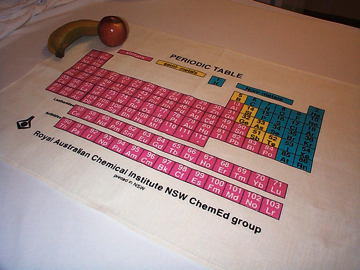 Ties scarves and tea towels periodic table scarves urtaz Choice Image